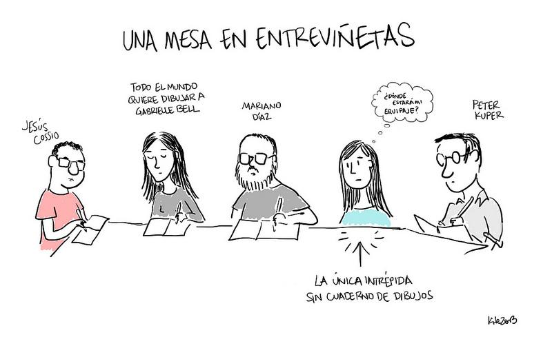 Una mesa en Entreviñetas