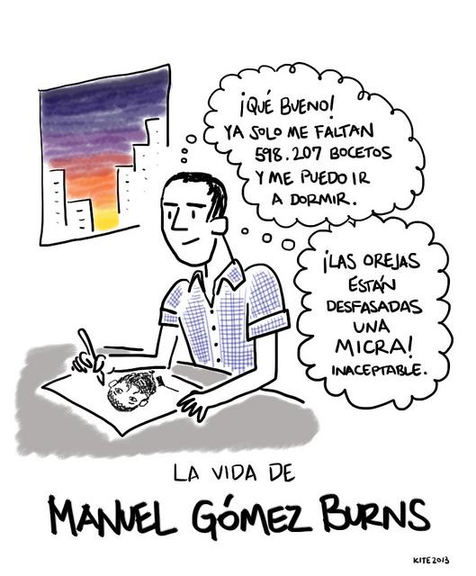 La vida de Manuel Gómez Burns